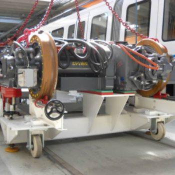 V2 Consult draaistel manipulaties en beproeving voor treinen trams en metro