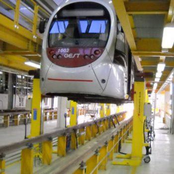 V2 Consult hefvijzels en heftafels voor treinen