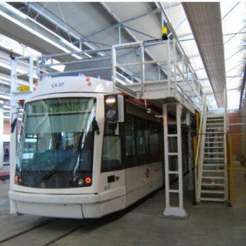 V2 Consult Plateformes de travail pour des trains trams et métros