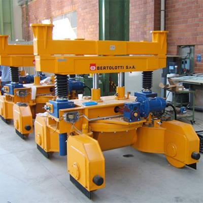 bogie drop lifting and turning false bogie equipment