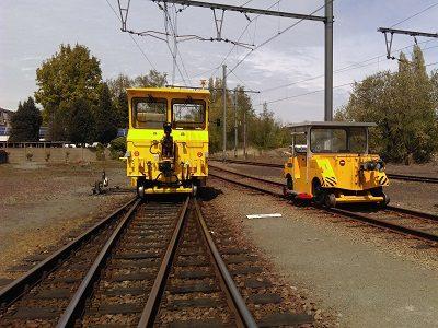 2 rail-way shunting vehicles (NMBS - Merelbeke)